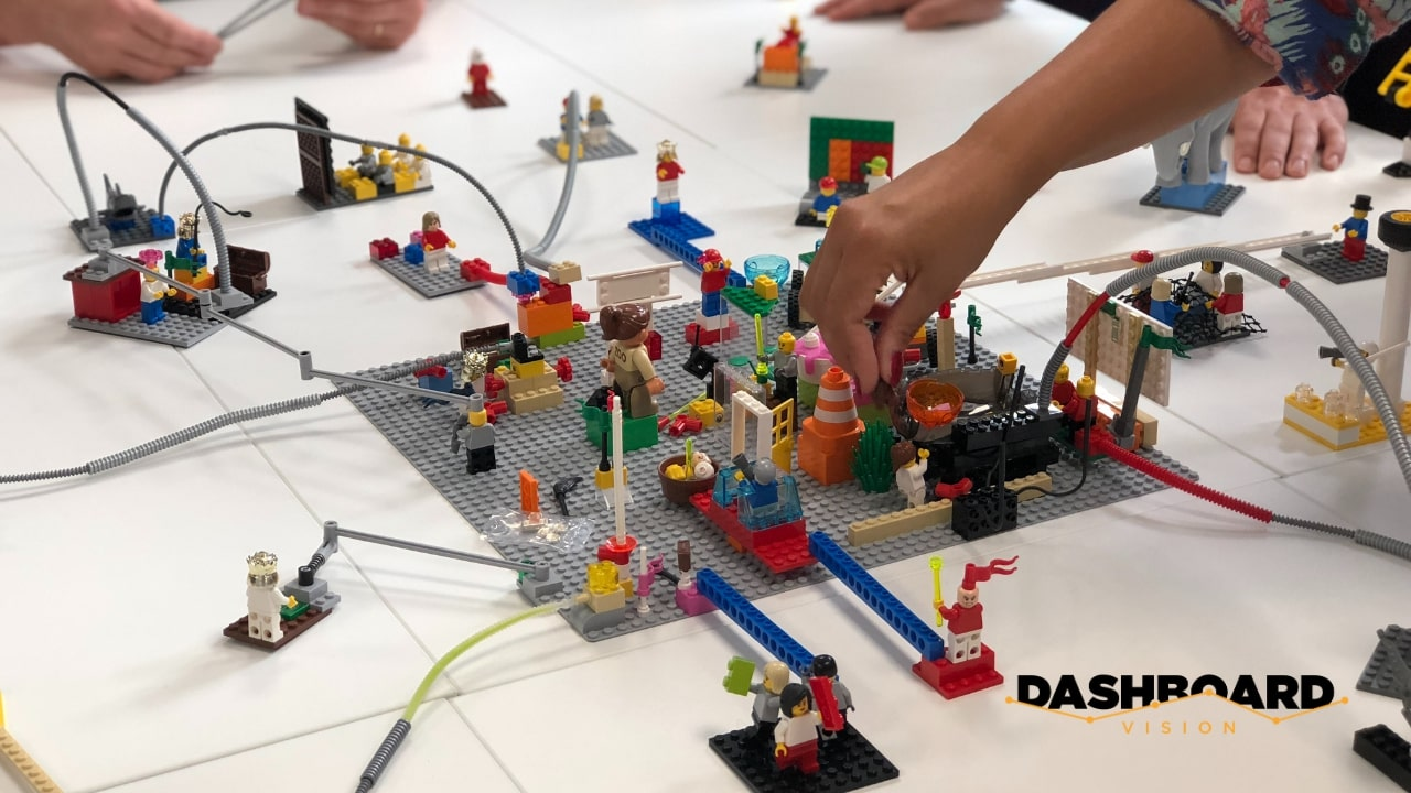 create a mental model by using lego or blocks
